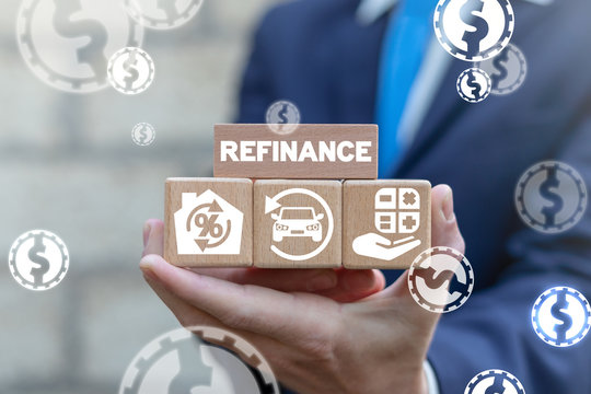 Refinance Finance Loan Mortgage Car Credit Recalculation Concept.