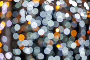blur image of defocused bokeh lights background