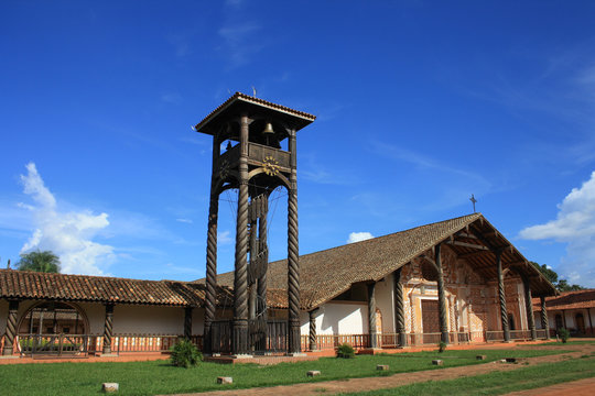 Church Concepcion, jesuit missions in the region of Chiquitos, Bolivia