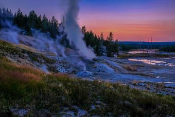 Recess Fitting Gray traffic Geyser of Yellowstone