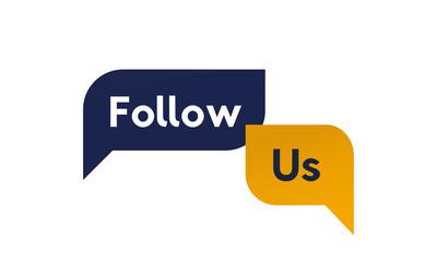 Follow Us promo banner vector design.