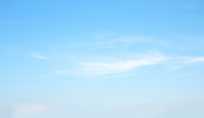 Poster Blauw Beauty white cloud and clear blue sky in sunny day texture background