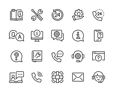 help and support icon set editable vector move. 96x96 pixel perfect