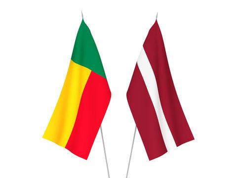 Latvia and Benin flags