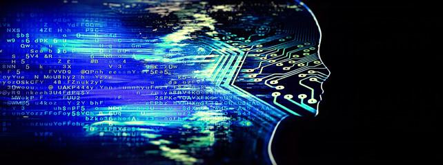 テクノロジーの概念で人工知能のイメージ