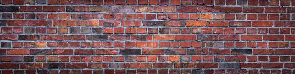 Photo sur Plexiglas Brick wall old red brick wall background