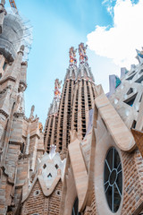 Photo sur Aluminium Barcelona la sagrada familia barcelona spain