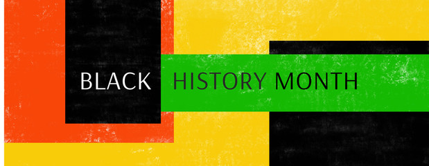 Black History Month February 2020 cover geometric abstract concept