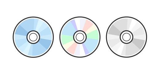 Fototapeta CD DVD icon disc vector blank illustration. Compact disk dvd music audio obraz