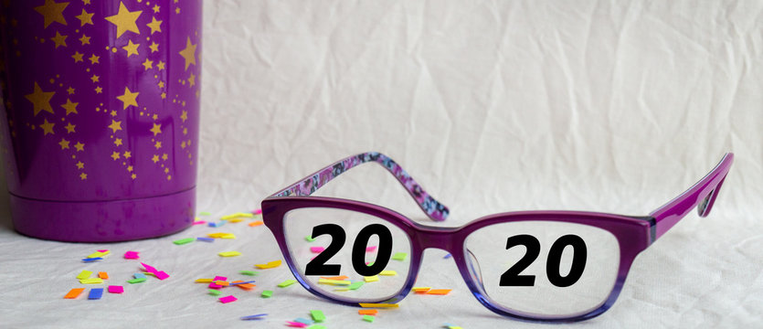 Seeing a new year coming with anticipation and fun making an intesting advertising concept and bokeh background.
