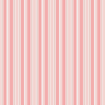 Pink and white vertical stripe vector pattern. Modern stripe background. Soft, pastel colors. EPS file includes pattern swatch tile.