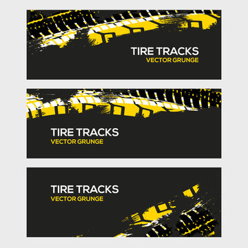 Rally race grunge tire dirt car background banner. Offroad wheel truck vehicle vector illustration