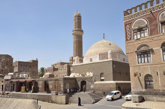 Sana'a, Yemen, March, 18,2014,Yemeni scene: People walking in historical center of Sana'a