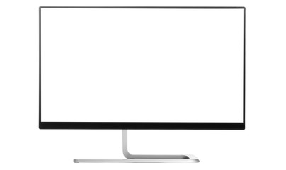 Modern 4k monitor isolated on a white background