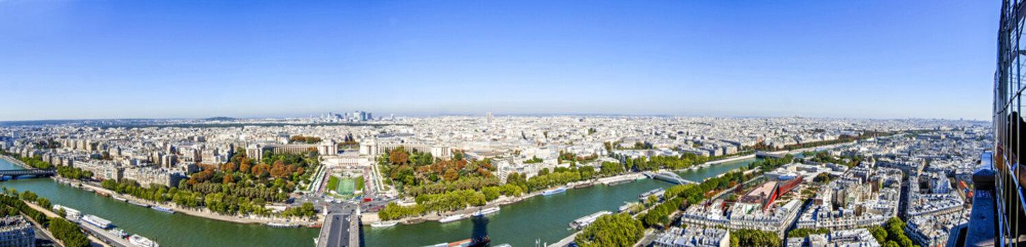 Paris, Stadtpanorama, Trocadero, Seine, Frankreich, Ile-de-Franc