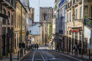 Cityscape of the Neighbourhood of Alfama (Lisbon, Portugal)