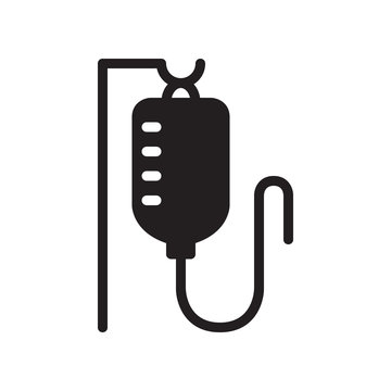 Infuse, blood bag icon in trendy flat style design. Vector graphic illustration. Blood transfusion icon for website design, logo, app, and ui. Vector file. Pixel perfect. EPS 10.