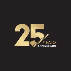 25th Year anniversary emblem logo design vector template