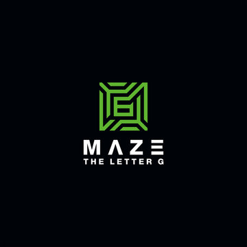 maze logo design alphabet vector