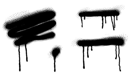Papiers peints Papillons dans Grunge Spray Paint Vector Elements isolated on White Background, Lines and Drips Black ink splatters, Ink blots set, Street style.