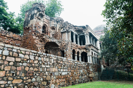 North-South arm of the Madrasa and Mosque at Firoz Shah Tom, Hauz Khas
