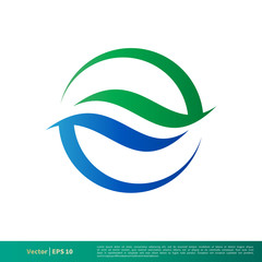 Water Wave Icon Vector Logo Template Illustration Design. Vector EPS 10.