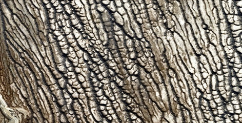 Photo sur Toile Les Textures abstract photography of the deserts of Africa from the air, aerial view of desert landscapes, Genre: Abstract Naturalism, from the abstract to the figurative, contemporary photo art