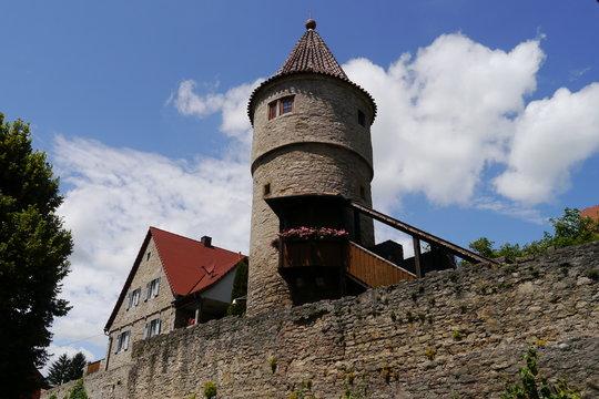 Stadtmauer und Joachimsturm  in Frickenhausen am Main