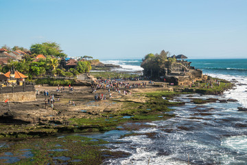 Aluminium Prints Beach A beautiful view of Tanah Lot temple in Bali, Indonesia.