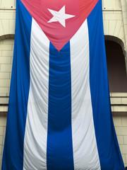 Kubanische Flagge, La Habana, Havanna, Kuba