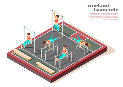 Workout Isometric Composition