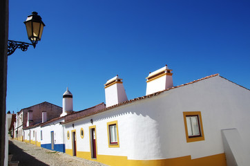 traditional street of alentejo region, Portugal