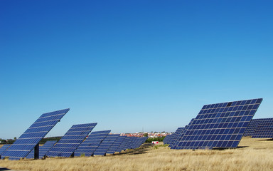 photovoltaic panels in park at south of Portugal