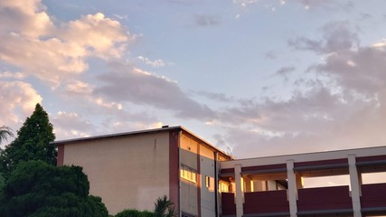 校舎 Fototapete