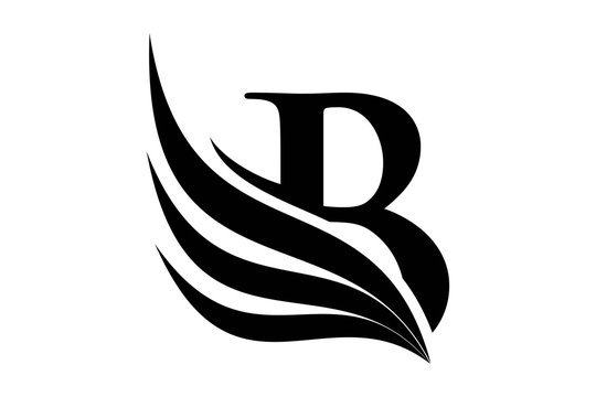 Initial letter B logo and wings symbol. Wings design element,  initial Letter B logo Icon, Initial Logo Template