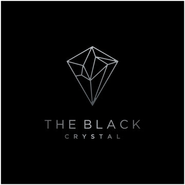 Beauty Diamond Crystal Framework Glass Constellation Luxury logo design