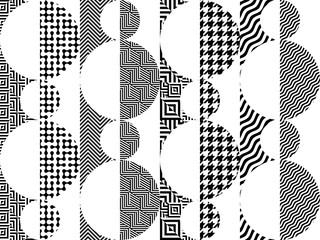 Geometric abstract symmetric pattern in pixel art style. Wall mural