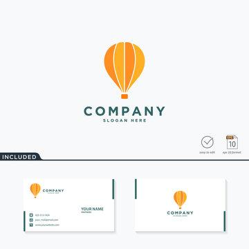 air balloon logo design, vector illustration concept