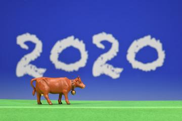 Türaufkleber Dunkelblau 2020 agriculture agricole environnement elevage vache bovin