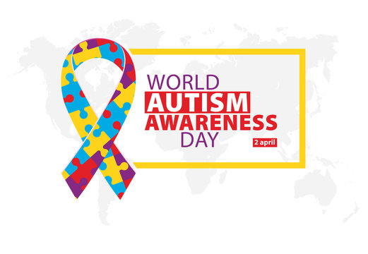 World autism awareness day. Illustration, banner or poster.
