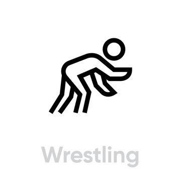 Wrestling sport icons