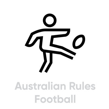 Australian Rules Football sport icons