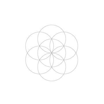 flower of life geometry 6 petals