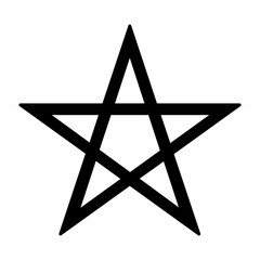 Pentagram symbol illustration