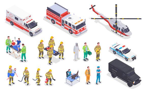 Emergency Service Isometric Set