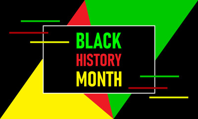Black History Month. Celebrated annually in February in the USA and Canada, October in Great Britain . Background, poster, greeting card, banner design.