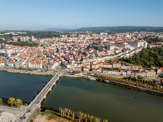 Wall Mural - Aerial view of city center of historic Coimbra, Portugal