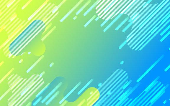 緑と青のネオンカラーグラデーションデジタル背景