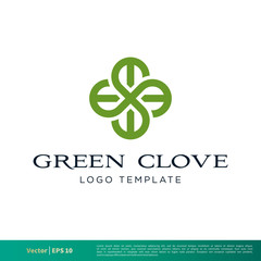 Green Clover Icon Vector Logo Template Illustration Design. Vector EPS 10.