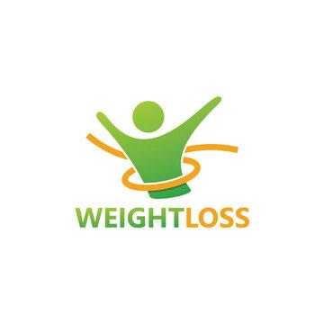 Weight Loss Logo Template Design
